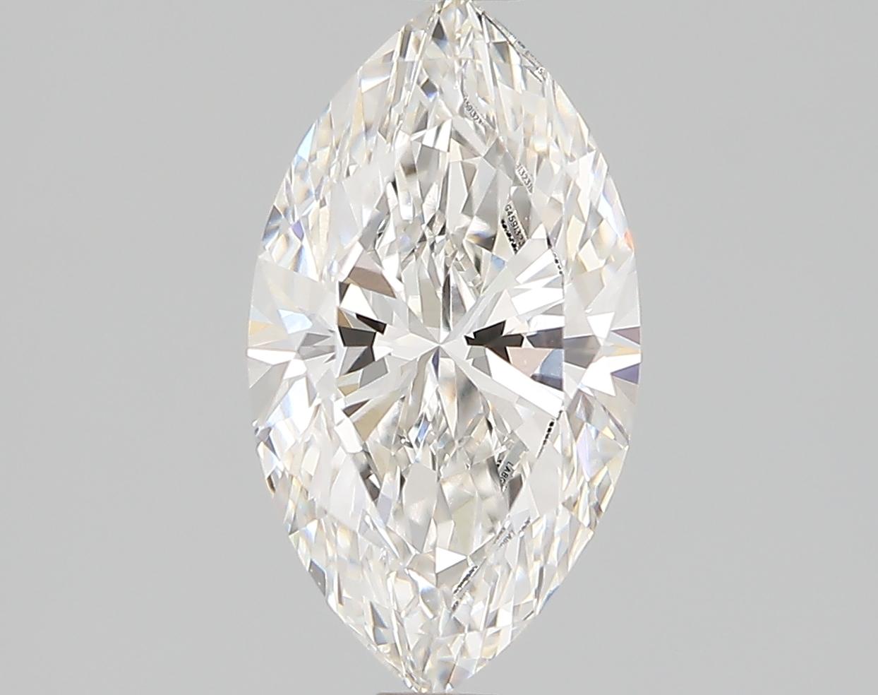 1.12 Carat F-VVS2 Ideal Marquise Diamond