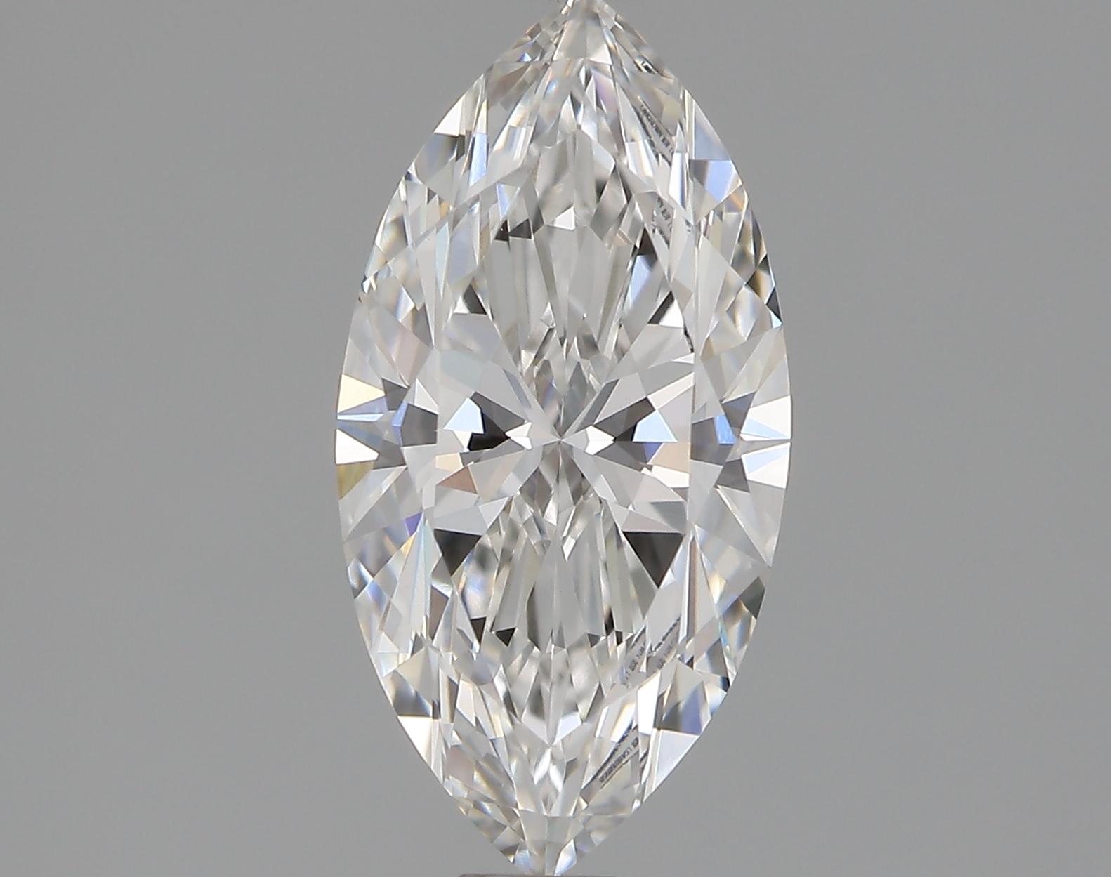 1.03 Carat F-VVS2 Ideal Marquise Diamond